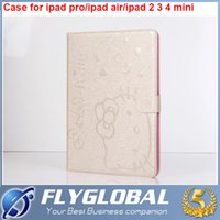 Wholesale Business Kitty - For ipad pro 9.7inch for iPad Air 234 for ipad mini 4 3 2 1 Hello Kitty PU Leather Smart Cover Stand Case Many Colors Fold Sleep Wake Up