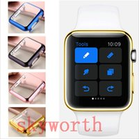 Wholesale Film Bumper - 38mm 42mm New Ultra Thin Slim Plating Hard PC Bumper Cover Case Skin Screen Protector Film For Apple Watch 5 Colors