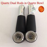 Wholesale Ego Ciga - 2016 new quartz double coil in quartz bowl atomizer eGo D update wax dry herb e ciga in stock