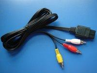 yeni oyun sistemleri toptan satış-Sıcak satış yeni gelmesi 1.8 m AV Kablosu Kablosu TEL Nintendo N64 Gamecube Oyun Sistemi için Süper Nintendo