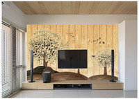 Wholesale Wooden Bedroom Classic - Custom modern minimalist mural photo wallpaper Wooden tree background wall mural abstract art wall peper bedroom wall decor