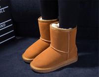 botas para niños chicos niña al por mayor-2016 Nuevo Real Australia Niños de alta calidad para niños, niñas, niños, bebés 5281 botas de nieve tibia Teenage Students Snow botas de invierno