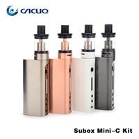 Wholesale Ecigarette Mini - Authentic kanger subox mini-c Kit electronic cigarettes with 50w kbox mini-c vape mods 3ml kangertech protank 5 ecigarette vaporizer ssocc