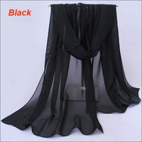 Wholesale Cheap Wholesale Pashmina - Super quality factory directly good cheap price shawls and wraps large black summer scarves for women