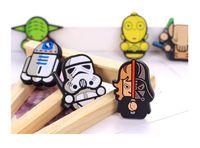 Wholesale Kawaii Magnets - 2017 New Arrivals Cartoon Star Wars Fridge Magnets Kids Kawaii Cute Vader Yoda Decorative Refrigerator Souvenir Magnetic Sticker