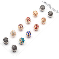 12pair / lot High Quality Wholesale New Fashion Unique 3D Magnético Broche Strong Magnet Scarf Hijab Brooch Factory Preço Direto