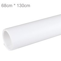 Wholesale Paint Photo Backdrop - White 68 x 130cm PVC Material Backgrounds Backdrop Anti-wrinkle for Photo Studio Photography Background Equipment
