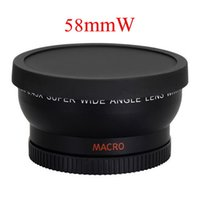 Wholesale Rebel T3i Slr - Free Shipping 58mm 0.45X Wide Angle Lens for Canon EOS 1000D 1100D 500D Rebel T1i T2i T3i