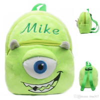 Wholesale University Baby - Monster university, the 1-3 year - old male and female baby bags cute little baby is young children cartoon bags small backpacks 1049-2