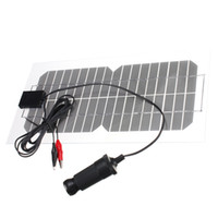 células de painel solar monocristalino venda por atacado-Freeshipping 5.5 W 18 V universal Semi-Flexível Transparente Monocrystalline Silicon Painel Solar de Energia Solar Sol Engergy Clipe de Energia + Carregador USB