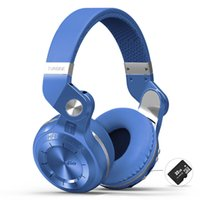 Wholesale Headset Radio For Iphone - Bluedio T2+ Foldable Bluetooth Headphone Bluetooth 4.1 Headset Support Card and FM Radio For iPhone Samsung