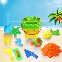 Wholesale Toy Sand Bucket Wholesale - Wholesale- Sand Beach Water Toys Set Kids Play Water Castle Bucket Shovel Kettle 13PCS JE