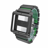 Wholesale Relojes Touch Watch - Wholesale-Stainless Steel Wrist Watch Band for iPod Nano 6 6th Aluminum Multi-Touch Kit Strap Bracelet Case Pulseira Relojes Cover