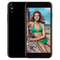 Wholesale Hot Black Wireless Usb - Hot Selling Goophone ix MTK6580 64bit Quad Core 1GB RAM 16GB ROM With Wireless Charging Face ID 4G LTE 1440x800 Pixels Smartphone