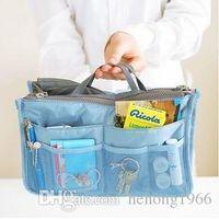 Wholesale Wholesale Clothes Bundles - Storage Bag With Handle Double Zipper Sundries Container Portable Multi Function Pocket Finishing Package Durable Travel Bundle 5 8rb R