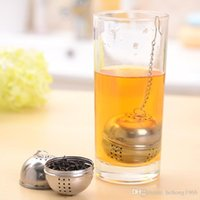Wholesale Tea Pot Sale - Sliver Tea Infuser Filter Stainless Steel Hot Pot Seasoning Ball Strainer With Chain Hang Strainers Factory Direct Sale 1 05rr R