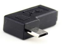 usb left venda por atacado-Brand new Micro USB Masculino 90 Graus Right Left Angle para Micro usb Plug Adaptadores Femininos