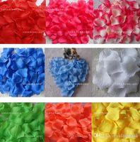 altın ipek yaprakları toptan satış-Romantik Yapay İpek Gül Yapraklı Ev Dekorasyonu Petal Çiçekler Düğün Parti Garlands Aksesuarları Altın Kırmızı 5 cm MIC 10000 adet (100 torba