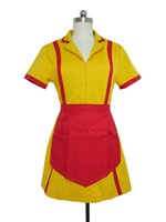 Wholesale Caroline Broke Girls - TV 2 Broke Girls Max and Caroline Costume Women Fancy Party Outfit Cosplay