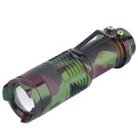 Wholesale Camouflage Flashlights - Wholesale-New Mini Portable 7W Q5 LED Flashlight 700LM Torch Light Lamp Camouflage free shipping