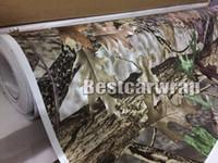 carros de pato al por mayor-Acabado mate RealTree Abrigo de vinilo para camuflaje Mossy oak Tree Leaf Abrigo de camuflaje para el auto CAMA CAMO ARBOL PRINT DUCK WOODLAND tamaño 1.52 x 30m / Roll