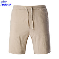 Wholesale Boxer Shorts Trousers - Wholesale-Breathable and Comfortable Men's Linen Shorts New Gym Running Fitness Sports Boxers Trousers Solid Color Plus size 5XL