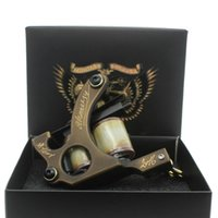 Wholesale Brass Tattoo Guns - Tattoo Machine Gun Carved Brass 10 Wrap Coils for Shader Supply Beauty Body Care
