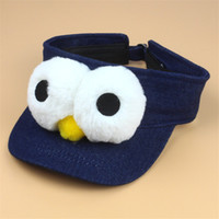 Wholesale Cartoon Cowboy Hats - Children Hat Unisex Funny Baseball Hat With Big Eyes Empty Top Caps Lovely Big Eyes Empty Hat Adult Children'S Cartoon Snapback