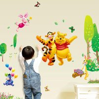 Wholesale Lighted Wall Child - winnie the pooh bear wall sticker child role of children's diy adhesive art mural poster picture removable wallpaper baby room