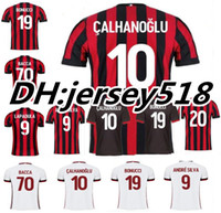 Wholesale Football Milan Kaka - 17 18 AC Milan Home soccer jersey Top Thai quality 2017 2018 BACCA KAKA L.ADRIANO SUSO LAPADULA ABATE Milan away football shirts