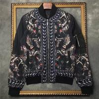 Wholesale Monkey Winter Jacket - 2016 winter Fashion brand men jackets In the monkey printing Long sleeve mens coat blazer uniform men Streetwear outwear