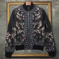Wholesale Uniform Coat Blazer - 2016 winter Fashion brand men jackets In the monkey printing Long sleeve mens coat blazer uniform men Streetwear outwear