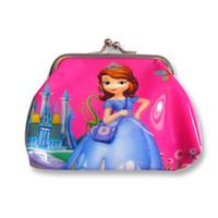 Wholesale Snow White Wallets - Pink Beautiful Girls Snow White Button Coin Purse Cute Cartoon Children PVC Wallet Kid Birthday Christmas Gift 100pcs lot