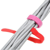 Wholesale Tv Cable Ties - 100pcs set 10MM x 100MM P Type Straps Wire Organizer Cable Ties Hook Loop Wire Management for Laptop PC TV Free shipping H210509