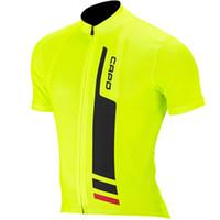 ingrosso abbigliamento giubbotto giallo-2016 Fluo Giallo Ciclismo Bici abbigliamento per biciclette Abbigliamento Donna Uomo Ciclismo Jersey Jacket Jersey Top Bici Cycling Shirt