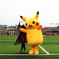 Wholesale Popular Character Mascot Costume - Hot Sale 2016 Pikachu Mascot Costume Popular Cartoon Character Costume For Adult Pikachu Fancy Dress Party Suit