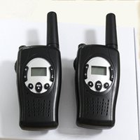 Wholesale Wholesale Walky Talky - Portable wind-up Rechargeable Walkie Talkie  2 Way Radio with Crank Dynamo walky talky 22 Channels FRS Wireless Intercom LED Flashlight