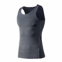 All'ingrosso- Uomo Bodybuilding Fitness Vestito Cool Vest Shirt Body Vestiti Top Tank Wicking Vest Quick Dry Camicie traspiranti Felpa