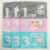 Wholesale Strips Blackheads - Holika Holika Pig Nose Cleaning Strips Blackhead Remover 3 Step Kit Korean Cosmetics Face Nose Treatment and Mask