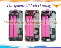 For Apple iPhone 5 5g 5s 5c SE Full Housing Back Cover Battery Cover with Side Buttons Cables + Small Parts Assembly Replacement Parts
