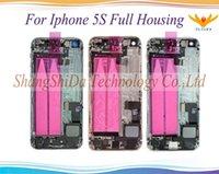 ingrosso sostituzione dell'assemblea posteriore di iphone-Per Apple iPhone 5 5g 5s 5c SE Full Cover posteriore Coperchio della batteria con pulsanti laterali Cavi + Parti piccole Parti di ricambio per assemblaggio