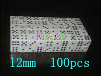 Wholesale dices number for sale - Group buy 100pcs MM dice White with Black number point Rectangular white mm dices bosons IVU