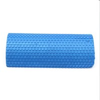 Wholesale yoga foam rollers - Free shipping 30cm Half Round EVA foam Yoga roller Pilates Fitness Foam Roller Gym Exercise Fitness Yoga Blocks With Massage Floating Point
