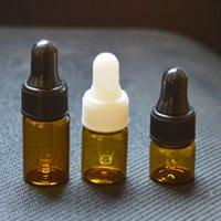 e saftproben großhandel-Schnelle 1 ml 2 ml 3 ml ätherisches Öl Braunglasfläschchen E-Flüssigkeit Tropfflasche 1/4 Dram Mini Klarglas Parfüm Probe E-Saft Kleine Flasche