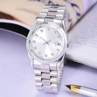 Wholesale Classic Watch Mechanical Woman - High quality DAY-DATE Automatic Mechanical Gold Stainless Steel Boy Girl Watch,Luxury Diamonds Classic Style Unisex Men Women Lady watch