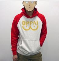 Wholesale Punch Xl - i feel like pablo Men's Jackets One Punch man Saitama Oppai hoodie Hooded Sweatshirt S M L XL XXL