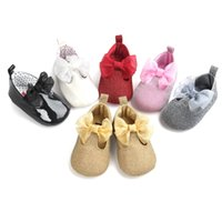 black sequin moccasins - New arrival Newborn Baby Shoes First Walkers Infant Toddler bows sequins PU leather Baby Girls Moccasins Soft Moccs Shoes kid Footwear A9591