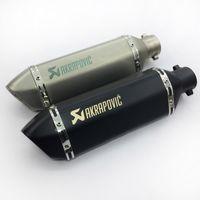 Wholesale Motorcycle Laser - Laser Marking 38-51mm Universal Motorcycle Akrapovic Exhaust Muffler Pipe for GY6 CBR CBR125 CBR250 CB400 CB600 YZF FZ400 Z750