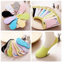 Wholesale Invisible Comb - Combed Cotton Kids Ankle Socks Colorful Candy Colors Bobby Sox Invisible Antiskid Kids Socks Comfortable Soft Socks For Boy And Girl