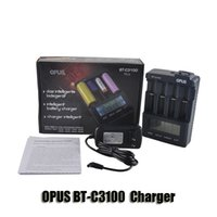 Wholesale Nimh Charger Lcd - Original OPUS BT-C3100 Charger 18350 18500 18650 26650 LI-ion NiCd NiMh Intelligent Digital Battery Charger With LCD Display